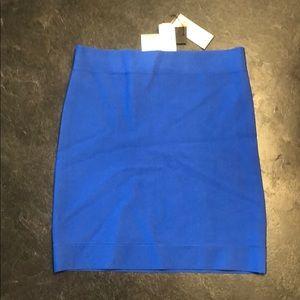 BCBG Max Adria cobalt blue pencil mini skirt